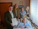 2012-01-15 - Richard Wüstefeld zur 75 jährigen Vereinsmitgliedschaft